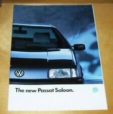 VOLKSWAGEN THE NEW PASSAT SALOON CL GL GT GT 16V SALES BROCHURE April 1988