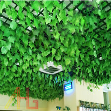 82ft Artificial Grape Ivy Leaf Garland Plants Vine Fake Foliage Green Decoration