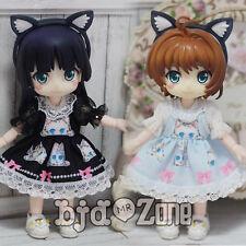 New Lovely Lace Blue/Black Cat Dress For 1/12 BJD Doll PukiFee lati oB Clothes