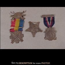 3 Antique Civil War Veterans Medals 20th Ct Vol