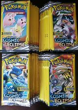 LOT OF (100)PACKS !! ☆ POKEMON SUN&MOON》COSMIC ECLIPSE ☆3 Card  Booster Packs