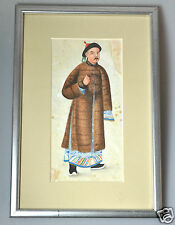 ANTIQUE CHINESE CHINA QING DYNASTY WATERCOLOR PAINTING PITH RICE PAPER 1850