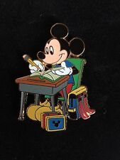 Disney Store Back-to-School Series Mickey Mouse at Desk Large LE 250 Pin