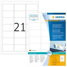 HERMA 10301 Repositionierbare Adressetiketten A4 63,5x38,1 mm weiß Movables Papi