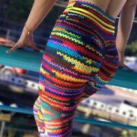Donna Vita Alta Yoga Fitness Leggings da Corsa Palestra Stretch Sport Pantaloni