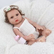 "16"" Anatomically Reborn Baby Doll Soft Silicone Handmade Xmas Gifts Doll Toys"