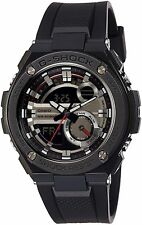CASIO G-SHOCK ANALOG-DIGITAL DIAL BLACK RESIN STRAP MEN'S WATCH GST210B-1A NEW