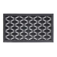JVL Elipses Heavy Duty Rubber Entrance Floor Door Mat, 40 x 70 cm