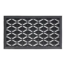 JVL Elipses Heavy Duty Rubber Entrance Floor Door Mat, 40 x 70 cm