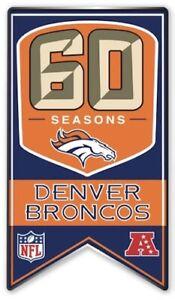 DENVER BRONCOS 60TH ANNIVERSARY PIN 1960 - 2019 SEASON NFL FOOTBALL SINGLE CLASP