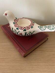 Emma Bridgewater Joy Sampler Dove Candle Holder Used 1st Christmas Bridgewater