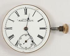 Antique Waltham 16s 7j Pocket Watch Movement w/ Dial/Hands for Restoration!