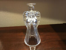"International Silver Company 24% Lead Crystal  7"" Angel Candle Holder"