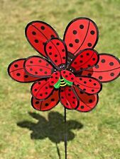 double cloth ladybug wind spinners pinwheel windmill