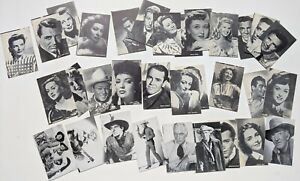 Vintage 1940s Hollywood Movie Stars Unauthorized Non Sports Card Lot (87cds) BB