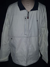 TOMMY HILFIGHER MENS RAINCOAT JACKET Coat Mens Size XL Full Zipper Front White