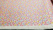 1930s Repro Fabric BTY Yard Pink Blue Yellow Flowers Windham Cotton Feedsack