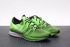 NIKE FLYKNIT TRAINER ELECTRIC GREEN/BLACK 532984-301 BRAND NEW AIR 10.5