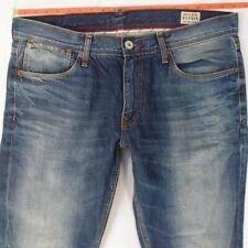 Mens Tommy Hilfiger HUDSON Straight Blue Jeans W37 W38 L34