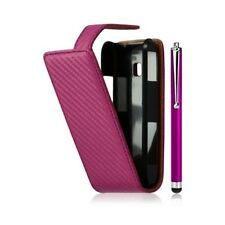 Cover hull embossed case for lg optimus gt540 pink color fuchsia + stylus luxury