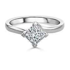 1.50 Ct Diamond Wedding Ring Anniversary Gold Finish Silver 8 Princess Cut