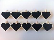 10 Mini Clip On Heart Blackboard/Chalkboard For Wedding/Party Lolly Buffet Table