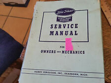 Ford Tractor Ferguson System Service Manual 3 Volume Set For Owners and Mechanic