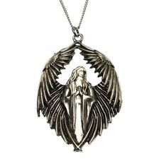 Prayer For The Fallen Angel Pendant Necklace Carpe Noctum Anne Stokes CA09 Pewte