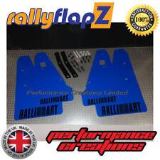 Mud Flaps & Fixings fits MITSUBISHI LANCER RALLIART SPORTBACK - Blue Logo Black