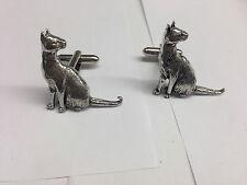 Siamese Cat PP-C02 Fine English Pewter Cufflinks