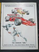 1971 UNIVERSITY OF WISCONSIN BADGERS FOOTBALL PROGRAM VS INDIANA HOOSIERS
