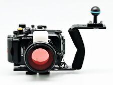 40m/130ft Underwater Camera Housing case for Sony RX100 IV M4 , diving handle