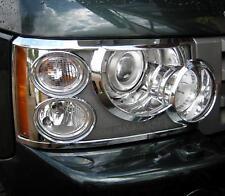 Chrome Head Lampe Housses Pour Range Rover L322 2006-2009 VOGUE TDV6 TDV8 HSE