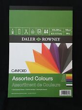 Daler Rowney A4 Assorted Colours Card Stock - 8.3 x 11.7 - 32 pieces