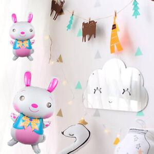 5 Pcs Rabbit Foil Balloon Bunny Balloons Happy Birthday Easter Party Decoration