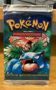 Venusaur Base Set Booster Pack Spanish Pokemon Collectable Sealed 1999 Light TCG