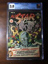 All Star Comics #15 (1943) - 1st Brain Wave! - CGC 3.0 - Key!