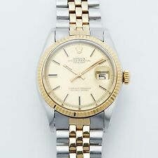 Rolex Datejust 18K Gold & SS 116233 Automatic Mens Watch 2 Tone Swiss Authentic