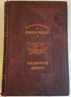 POCAHONTAS COUNTY IOWA Pioneer HISTORY FAMILY 1904 Original Book Map Antique