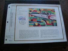 FRANCE - document CEF 1er jour 6/6/1981 (salon aeronautique et espace) (pliure)