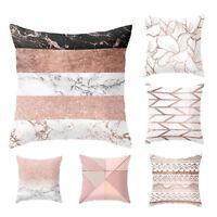 Striped Geometric Marble Texture Throw Pillow Case Cushion Cover Sofa Home Decor