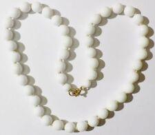 collier perle de porcelaine blanche bijou vintage noeud de maintient * 4929