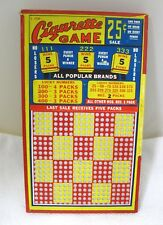 "Antique 25 Cent Punch Board Cigarette Game Gambling Trade Stimulators 8 3/4"""