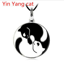 NEW HAU Best Friend Ying and Yang Yin Cat Pendants Necklace Friendship Gift
