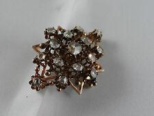 Muy vieja broche Mind. 500 rotgold 15 diamantes rusia? (010215)