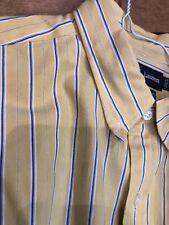 Ralph Lauren Men's Vintage Button Down Large Cotton Pony Shirt Dry Cleaned EUC