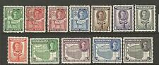 SOMALILAND PROTECTORATE 1942  KGVI  PICTORIALS SET 12  M&U  SG 105/12