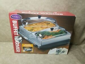 Buffet Warmer 2 Pan or Use as a Warming Tray by Nostalgia Electrics Still Sealed