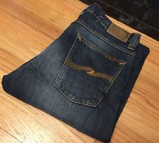 Vintage Men's NUDIE Loose Leif Compact Denim Jean. Made In Italy