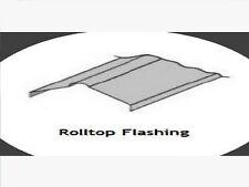 Rolltop Ridge Flashing 6ft Long X 15inch Girth Corrugated Galvanised Steel Sheet